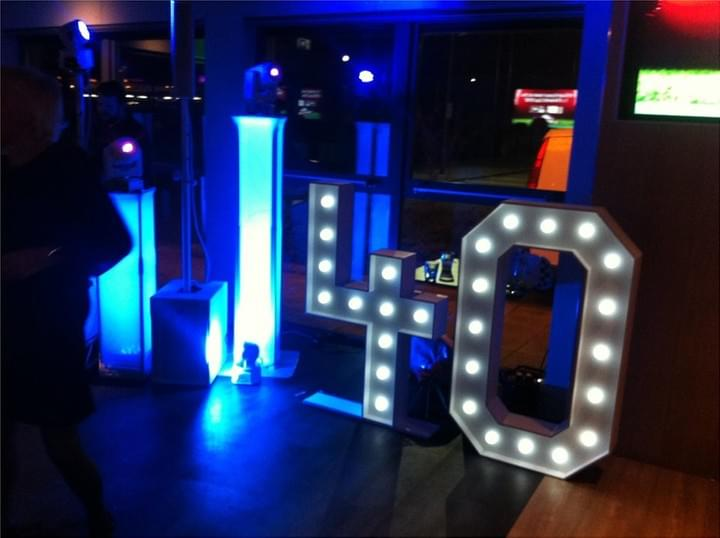 Light Up Numbers For Hire London Giant LED Lighting Hire