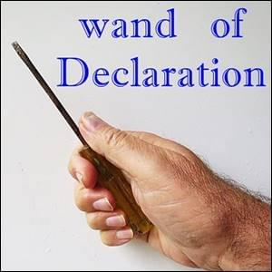 Wand Of Declaration StartOver.xyz Possibility Management