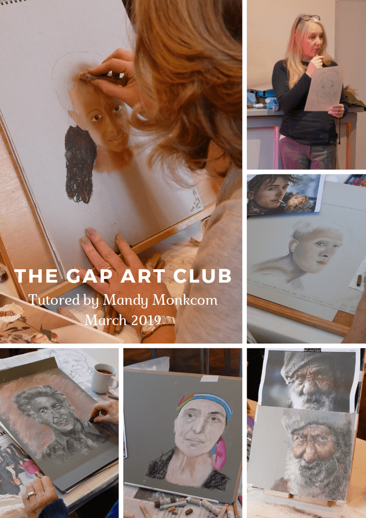 The Gap Art Club tutor led session March 2019
