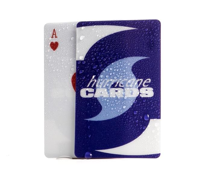 Hurricane Cards, playing cards, plastic playing cards, waterproof, windproof, heavy, weighted, resistant