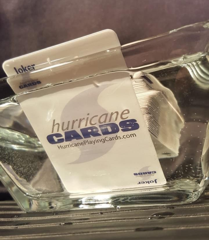 Hurricane Cards, playing cards, waterproof, windproof playing cards, weighted, heavy, drinking game, plastic cards, cool cards