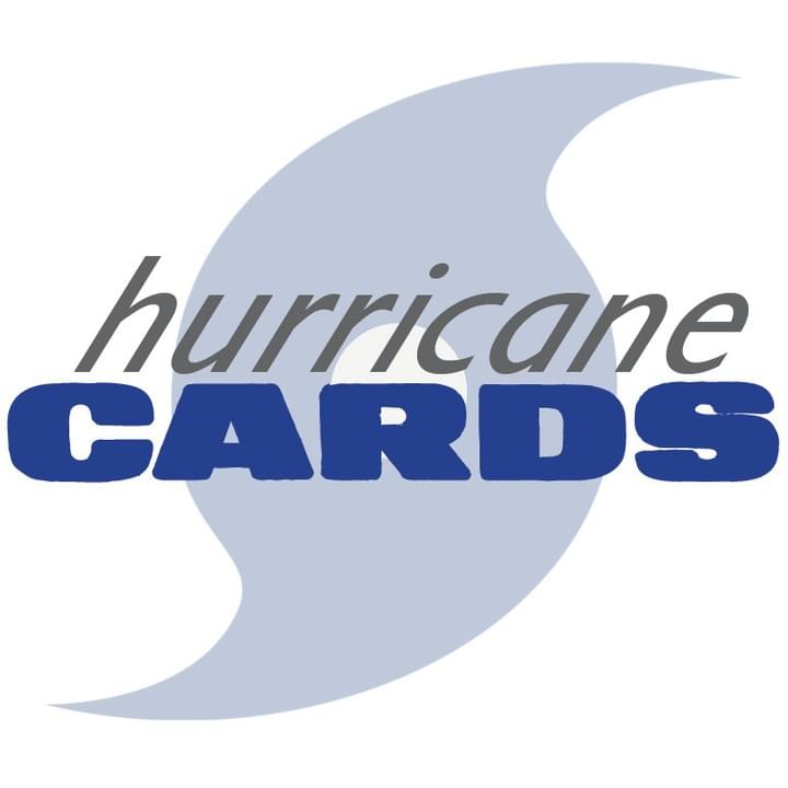 Hurricane Cards logo, Hurricane Cards, Playing Cards, Windproof, Waterproof, Heavy, Weighted, cards, outdoor
