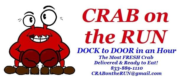 Look over our Crab on the Run menu