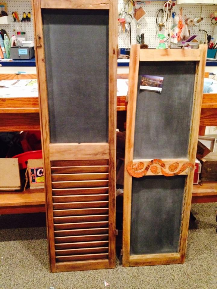 Antique shutter message boards