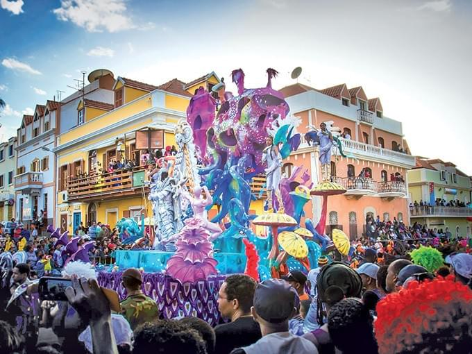 The carnival of Mindelo is a must see spectacle