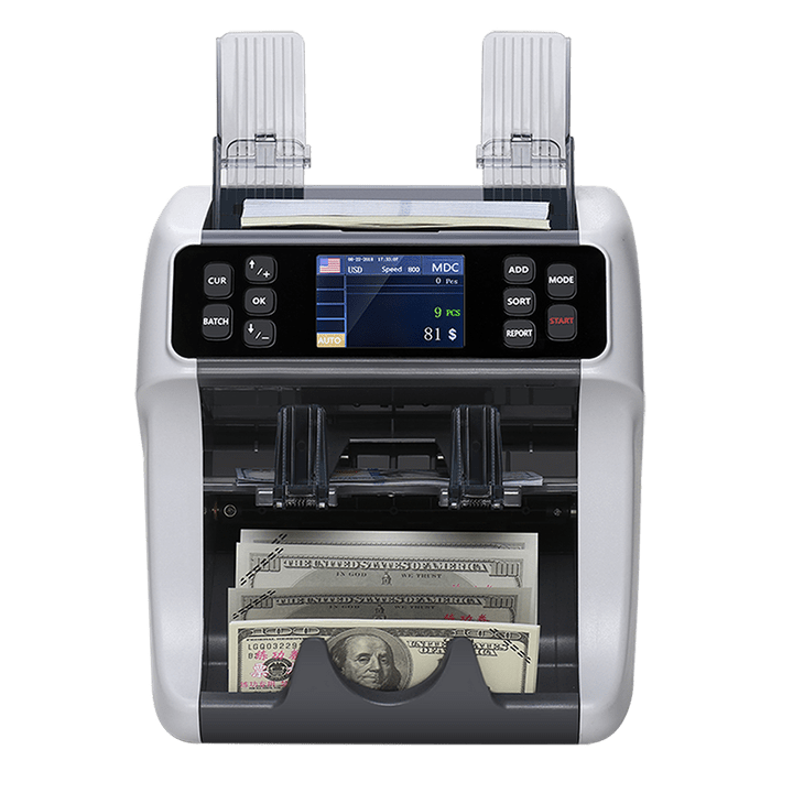 currency sorter counter 2 pockets
