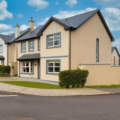 Colbert & Co Estate Agents Midleton are delighted to bring this immaculate 4 bedroom detached home to the open market. Located in Dealg Ban, Ladysbridge this property sitting proudly on a corner site overlooking the green area, has everything you require for a growing family.  Ladysbridge is a 10 minute drive from Midleton town and has a host of amenities close by including the award winning Castlemartyr Resort, Golf and Spa. You also have a church, shop, petrol station and local bar just a short walk away in the village itself. Garryvoe beach is only 5 minutes in a car along with some beautiful forestry walks close by. Of course we cannot discuss Ladysbridge without mentioning the now famous All Ireland Club finalists Fr.O Neills GAA who have their facilities in the village meaning plenty of outdoor activities for everyone in the family.  Built in 2015, the property is extremely efficient with fitted solar panels for your hot water meaning a very high A3 Building Energy Rating (BER). The interior is finished to a standard usually seen in show houses. There is so much to admire in this home from its floating gas fire, the clever use of under stair storage and its wonderful fitted kitchen. This home is exceptionally finished yet there is still a warm family feel throughout.  In total you have 3 living spaces on the ground floor with one being well capable of being turned into a bedroom if required as it has a very clever corner fitted wardrobe in situ. Upstairs has 4 great size bedrooms with lush carpet flooring in all. The master bedroom has fitted slide robes and a very well finished ensuite with floating fitted shelves. There is a fitted stira on the landing with access to a fully floored attic for extra storage. The beautiful modern lighting hanging in the landing only compliments the long vertical gable window leaving light flow through the property.  Outside to the front you have ample space for 2 cars to comfortably fit and dual access to the rear garden. Here you have a patio area off the double doors of the conservatory which is also equipped with outside power point. There is a shed which is staying with property large enough to store all the bikes and a bedded area perfect for planting your own fruit & veg. The aspect of this garden means you will have all the evening sun making a perfect home inside AND out. Viewing comes highly recommended.