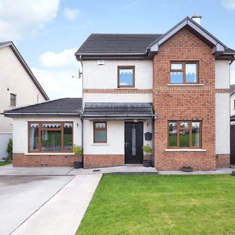 Colbert & Co are delighted to launch this stunning detached property to the market; the property is located in the Castlelake development, a highly desirable location due to its close proximity to the motorway. Carrigtwohill is only a 15-minute drive to Cork City and is serviced by bus and train. The area itself has become extremely popular over the last 4 years for both lettings and residential sales, mainly due to its proximity to Cork City and numerous pharmaceutical companies that sit on the perimeter of the village. There is a host of amenities available to include, shops, bars & restaurants as well as three schools, primary & secondary. The property itself has been tastefully decorated throughout and has a south-westerly aspect, with the added bonus of a beautifully manicured rear garden with wrap around patio area. Recently upgraded architraves, skirting and internal doors on ground level and composite exterior door all add style to this fabulous property. The property also benefits from two side access gates, spacious ground floor accommodation, gardens to front and rear with large driveway with parking for up to two cars
