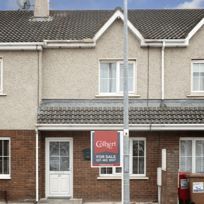 Colbert and Co are delighted to introduce No 27 The Laurels to the market; this fantastic two bed-terraced property is located in the popular Fota Rock estate in Carrigtwohill. The property is within walking distance of Carrigtwohill village, which hosts an array of amenities to include a newly renovated Centre, Mace, schools, restaurants & an award winning medical centre located in the Aldi complex at the far end of the village. The property is well maintained and has been recently painted throughout; it has huge potential and would make a perfect starter home or be an ideal investment opportunity. The property comprises of hall, front aspect living room and kitchen at ground level and a further two good size double bedrooms on the first floor with a fully tiled main bathroom. Outside space, there is a private enclosed garden to the rear of the property and ample parking to the front. The property boasts excellent transport links with Fota Rock being situated close to the motorway so easy access for Midleton. Carrigtwohill is approximately 16k from Cork city and is serviced by bus and train making it one of East Cork's most sought after places to live! Please contact the Midleton office on 0214-639557 to arrange a viewing appointment.