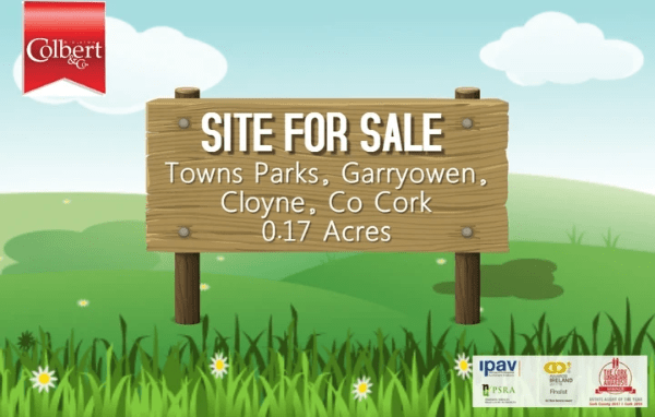 Town Parks, Garryowen, Cloyne, East Cork 0.17 Acre Site, **Sale subject to planning** Colbert & Co Estate agents present this fantastic opportunity to purchase a 0.17 acres site in the centre of Cloyne Village. There are a number of usages for this site including a private dwelling or a small scheme of properties.