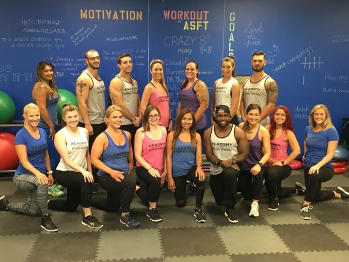Academy of Sports & Fitness Training students