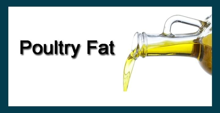 poultry fat, raw ingredient