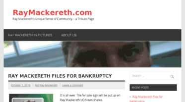 raymackereth.com Q News white wolf mansion dweller bankrupt