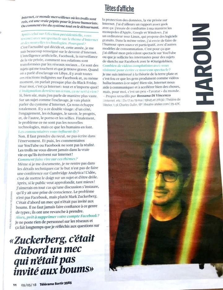 Haroun Interview Les Inrocks