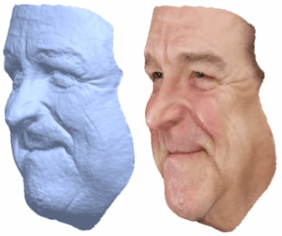 nrestricted Facial Geometry Reconstruction Using Image-to-Image Translation