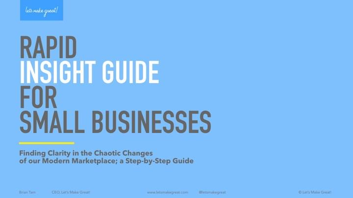 Workbook: Rapid Insight Guide For Small Businesses