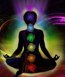 Main body chakras, root, sacral, solar plexus, heart, throat, third eye, crown, aura
