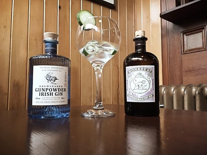 Premium Gin range at Thomas Connolly, Sligo.