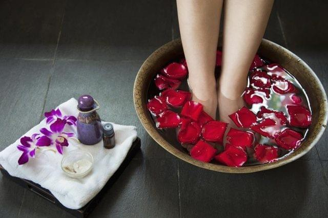 Deluxe Pedicure that is soothing and relaxing.