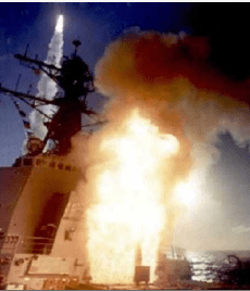 Missile launch, multiple missiles launched, DDG 51 missile launch