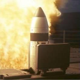 Missile launch, Mark 41 VLS, missile blast