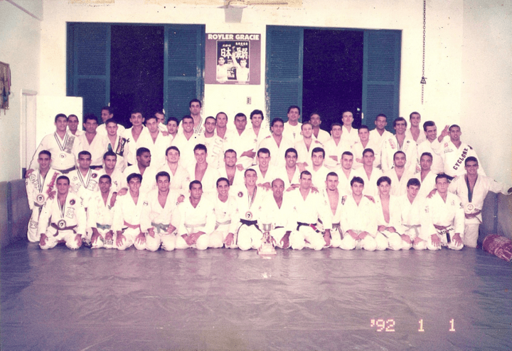 Gracie Humaita training session, presence of Royce and Helio Gracie