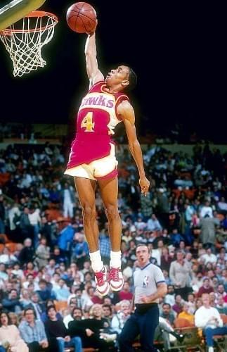 "Spud Webb is 5.3"" tall, shortest ever in the NBA. He won the 1986 All-Star Slam Dunk Competition"