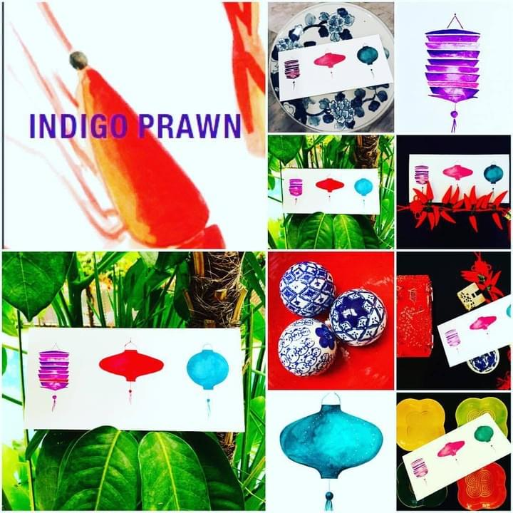 shop for indigoprawn prints, fine art, cards and wrapping paper now