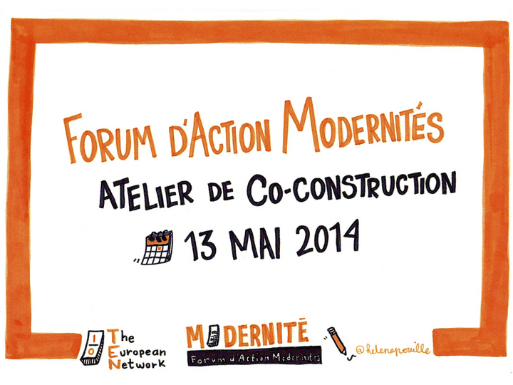 sketchnotes, facilitation graphique, facilitation visuelle, Hélène Pouille, forum d'action modernités, co-construction