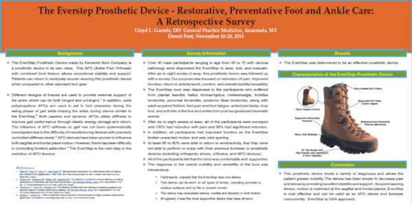 EverStep Orthopedic Boot PROSTHETIC DEVICE RETROSPECTIVE SURVEY