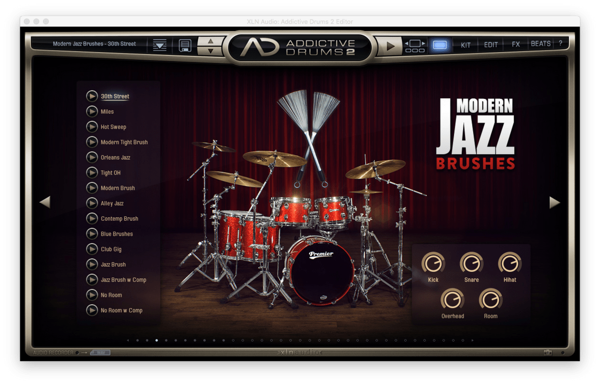 XLN Audio Addictive Drums2 Modern Jazz Brush