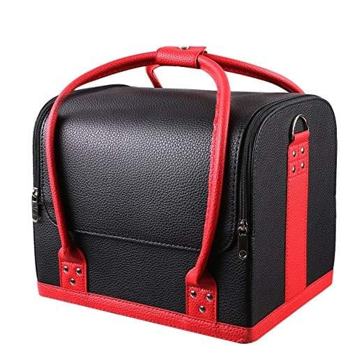 Homfa Professional Large Removable Pu Leather Cosmetic