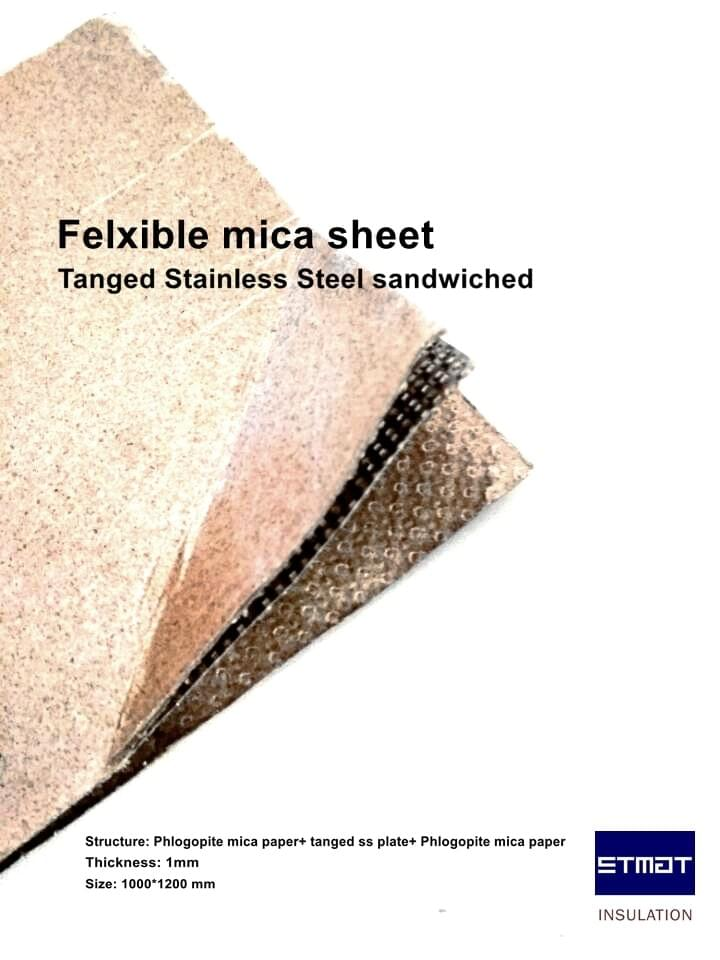ST-304T2: Tanged stainless steel flexible mica sheet