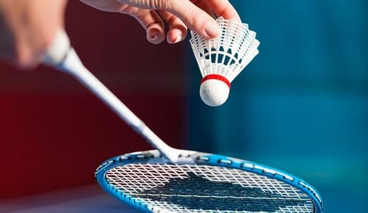 Picture of badminton and racket