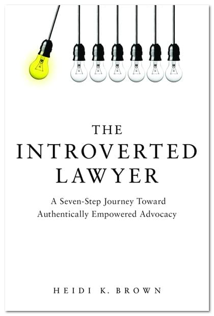 A new book for introverted shy and socially anxious lawyers
