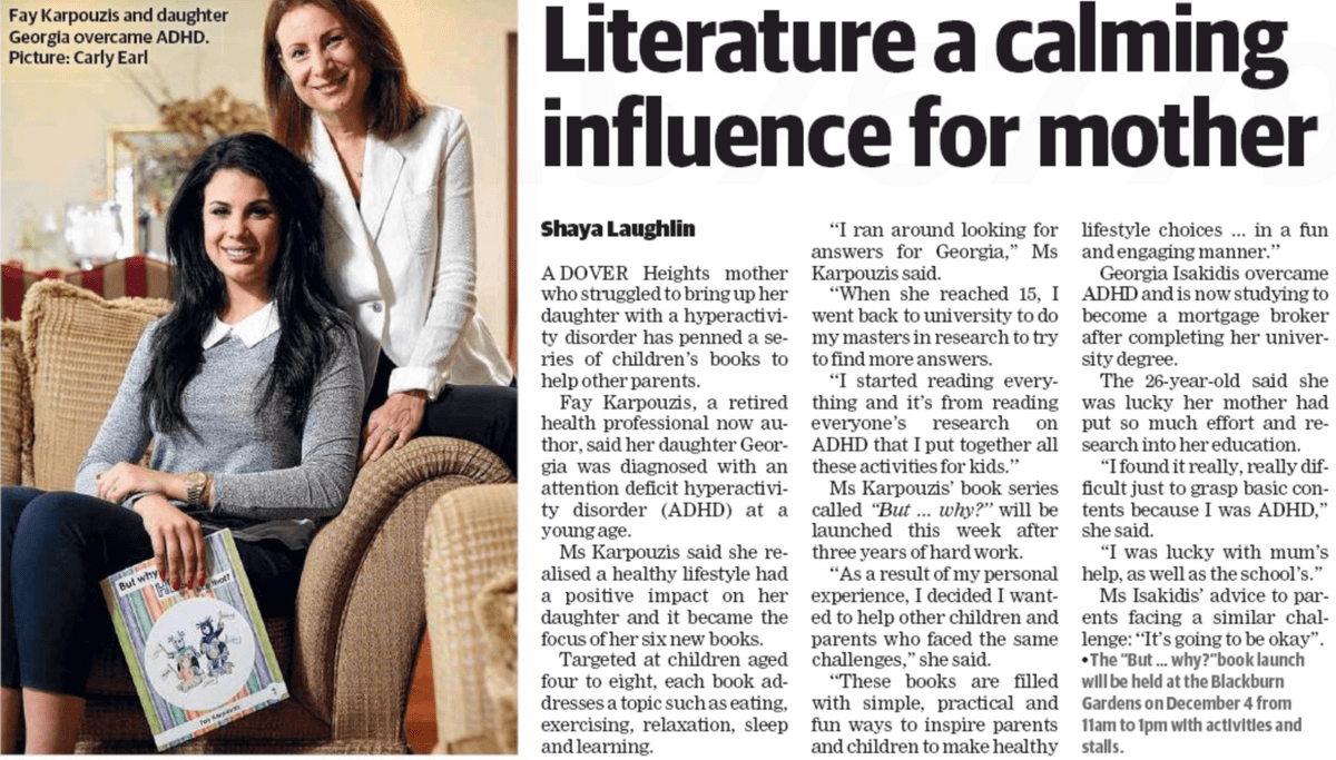 literature a calming influence for mother