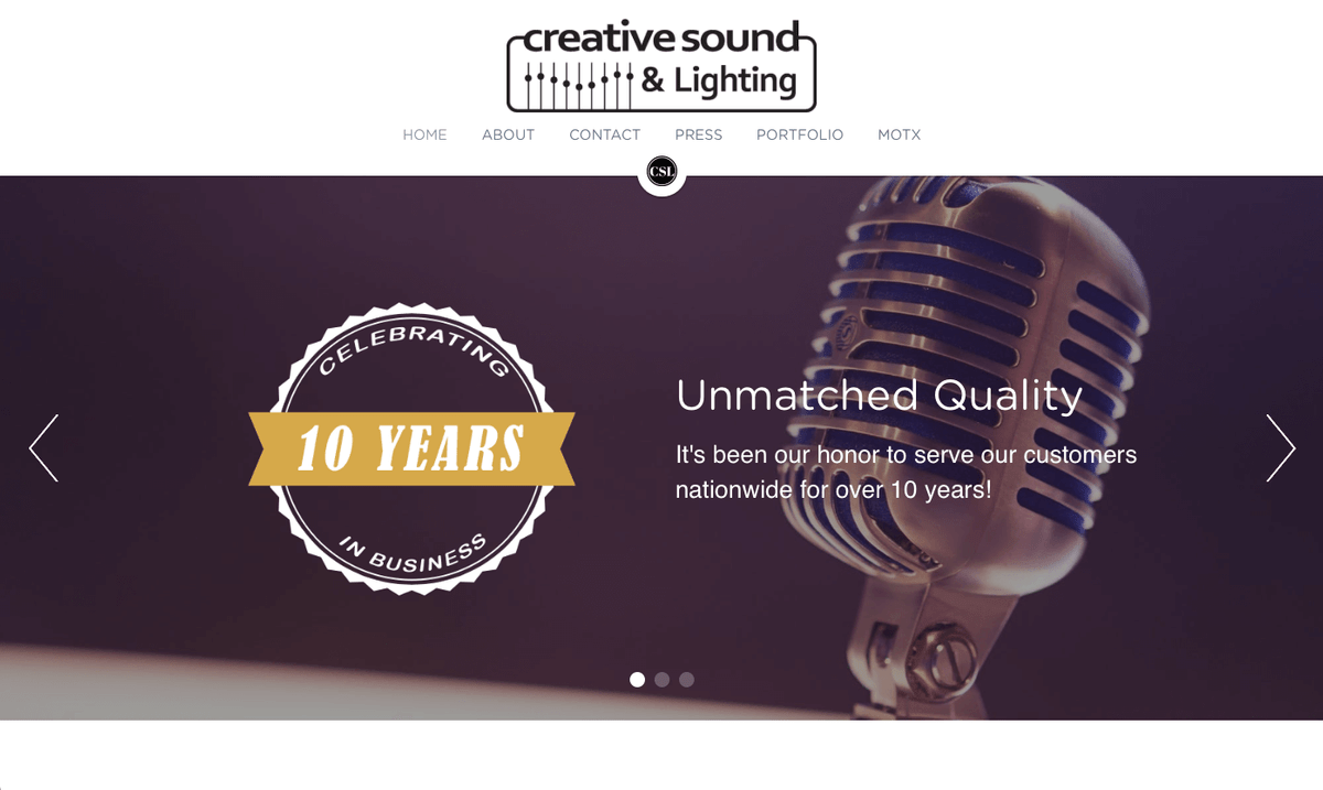 Creative Sound Solutions Website