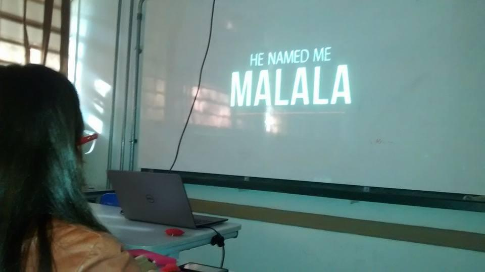 "The documentary ""He Named Me Malala"" was watched for all students in the school  where the project is being applied."
