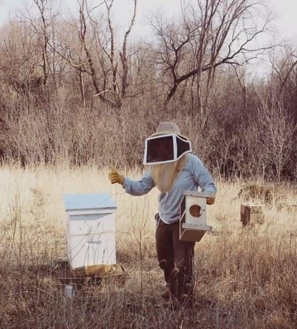 Installing our first package of bees - April 2014
