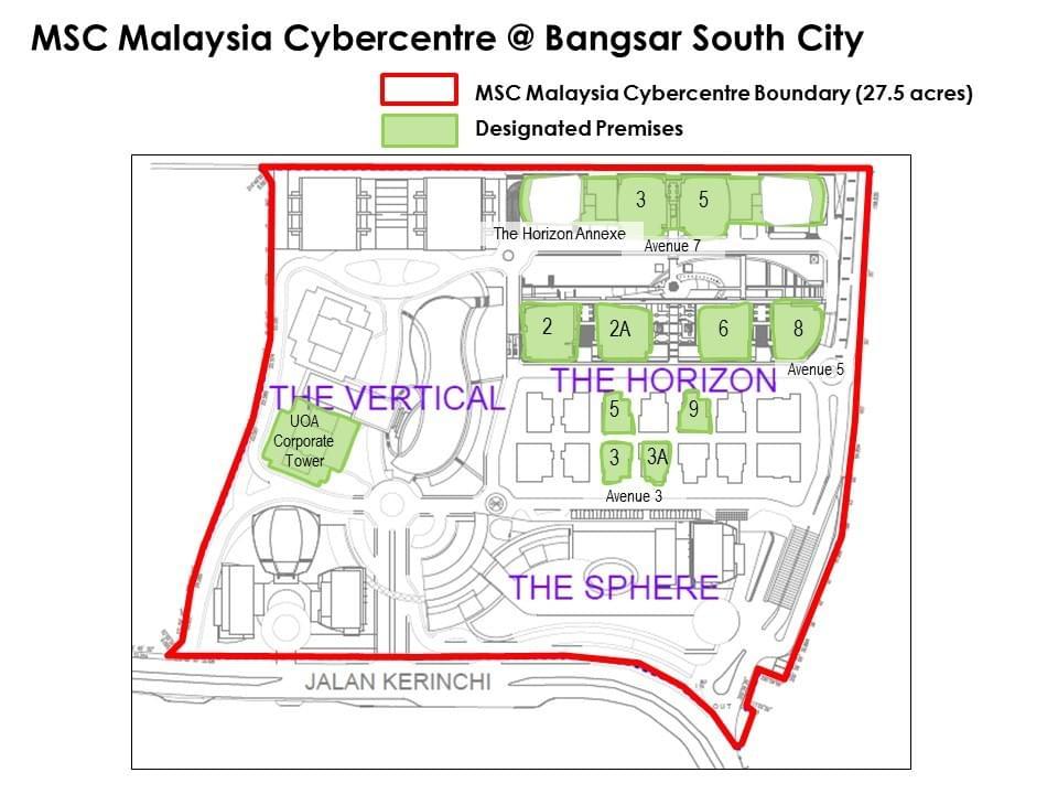Bangsar South MSC Zoning - Bangsar South Office Master Plan