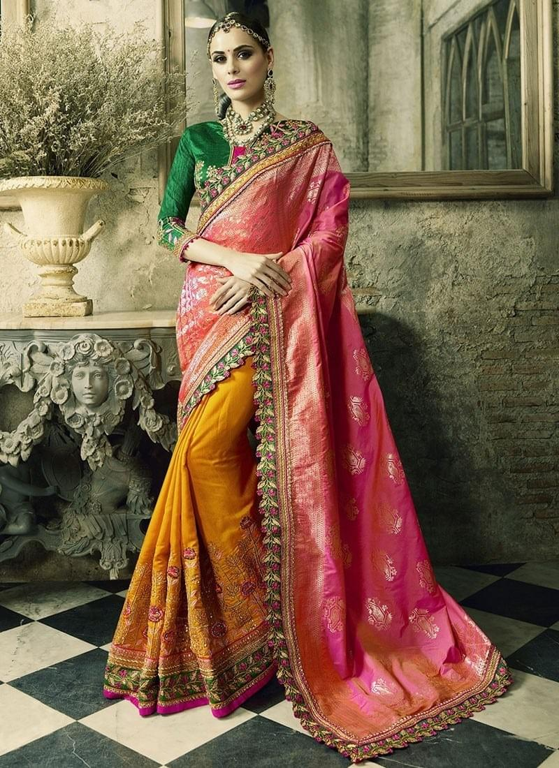 abf2da12dedb9d And for this wedding season, we have bring forth few of the best sarees to  flaunt your desi style. Let's have a look on them: