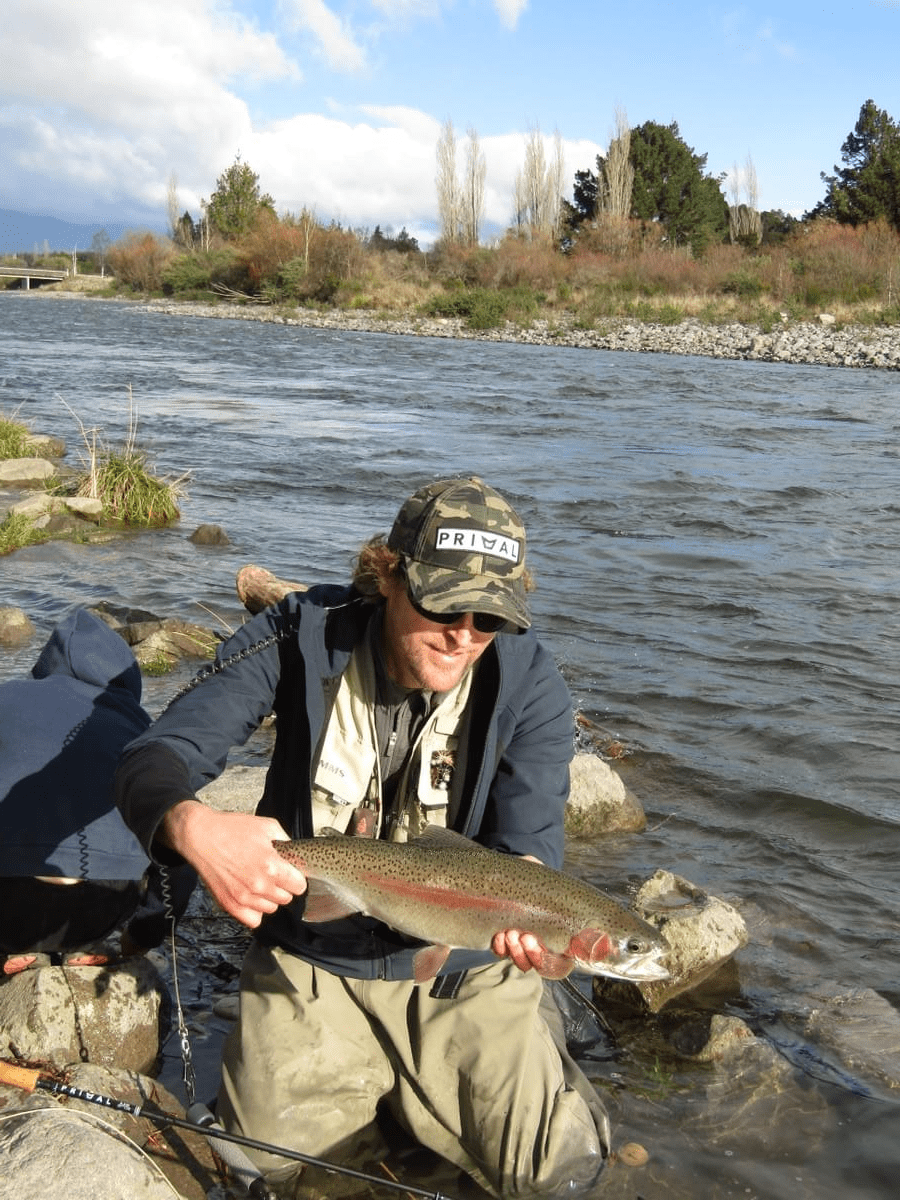 Taupo, New Zealand fly fishing guide Adam Priest with a nice Tongariro Rainbow trout! www.tntfishinguidenz.mystrikingly.com