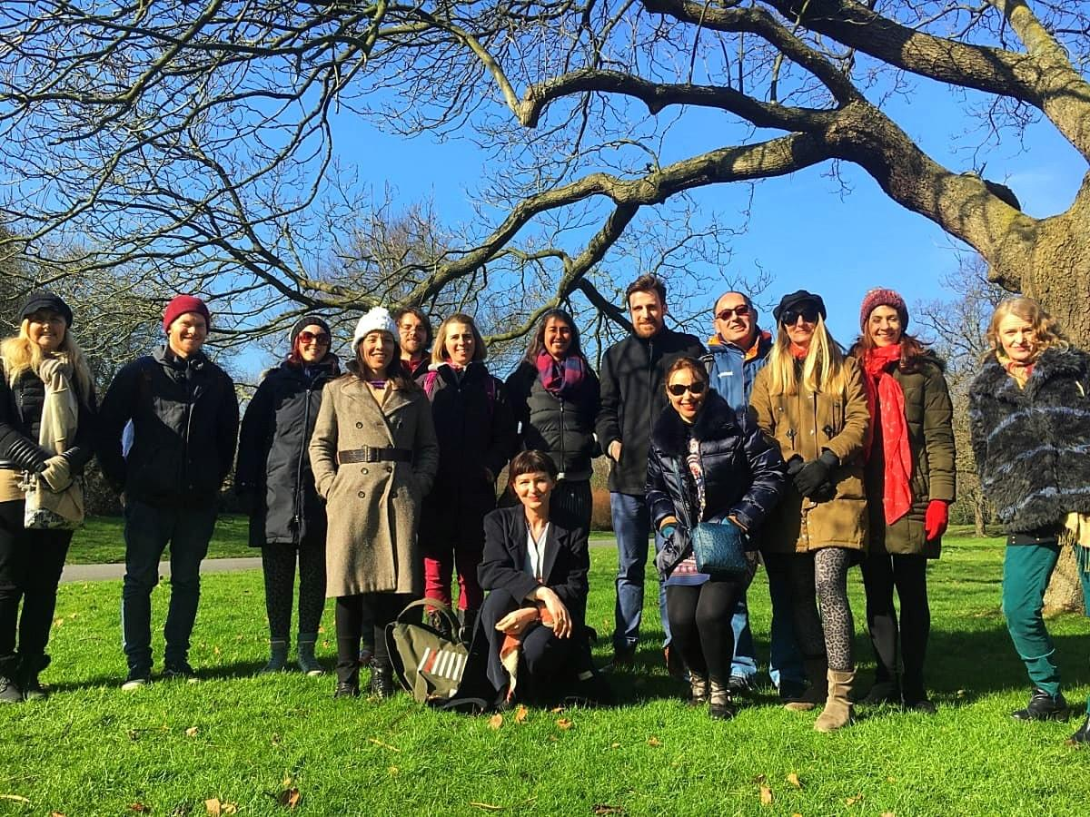 Before our mindful walk in Regent's Park