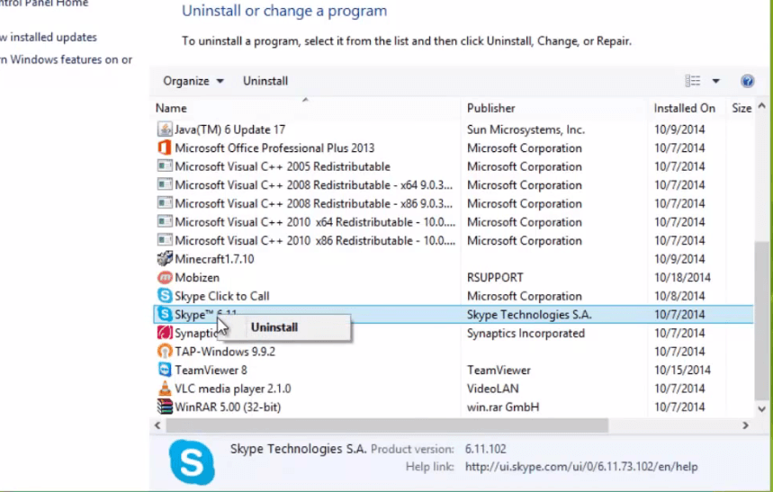 What are the steps to fix Skype can't connect problem with Windows