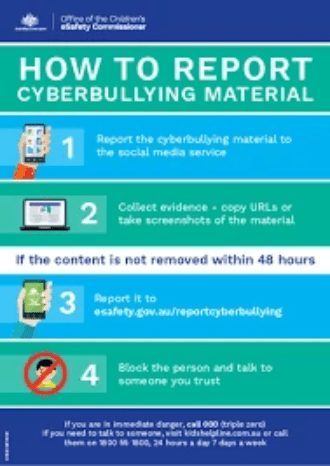How to Report Cyberbullying Materials