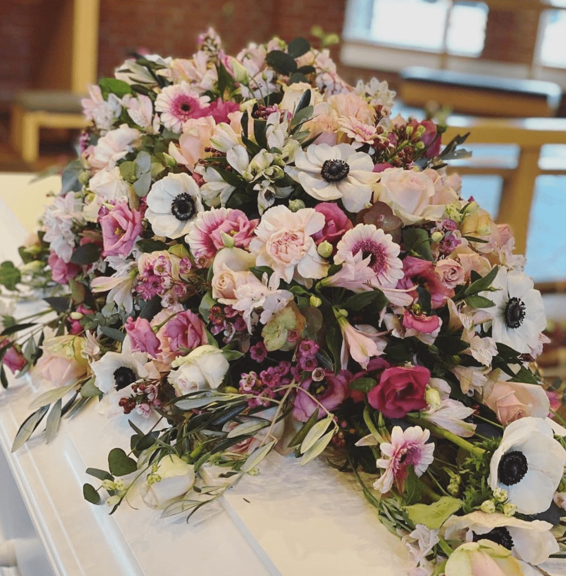 Photo By Christinas Blomster Funeral Casket Flowers in Dallas, Texas