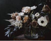 Haunting and Moody Floral Arrangement for Halloween