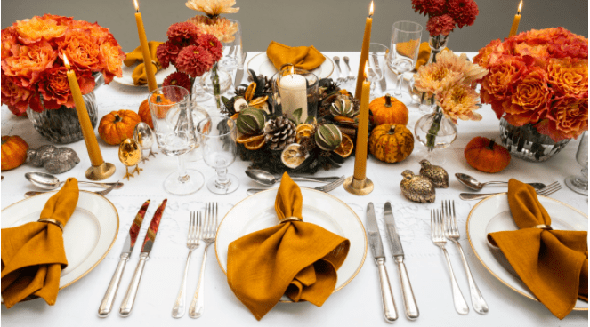 Photo of Thanksgiving Tablescape by Flowerbx Flowers and Produce in Dallas, Texas