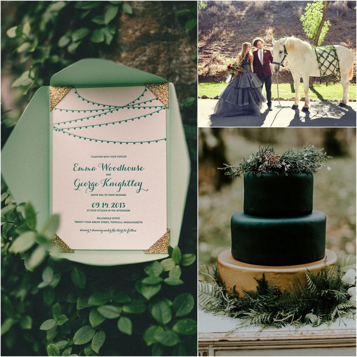 forest green Wedding Color trend - 123WeddingCards