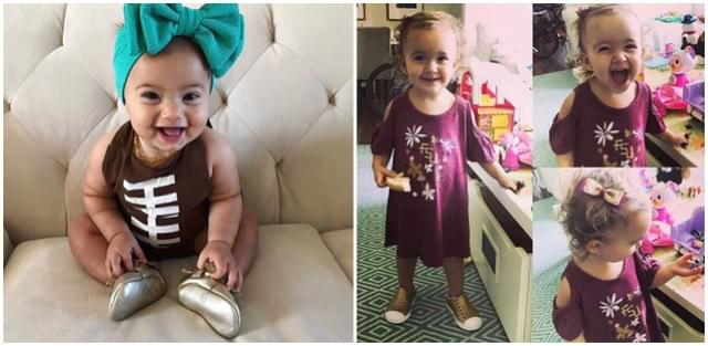 These Kyds look so adorable for game day! On the left, she is sporting our Bailey's Blossom's football outfit. On the right, she is sporting our Wes and Willy Florida State cold shoulder dress, and our gold glitter Native Shoes.